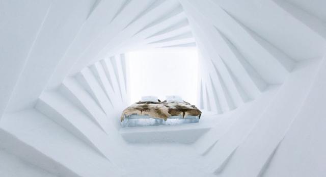Luksusowa bryła z lodu, czyli architektura wnętrz lodowego hotelu